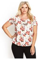 Forever 21 Cutout Floral Knit Top - Lyst