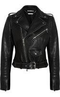 Alexander McQueen Studded Leather Biker Jacket - Lyst