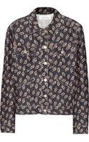 Etoile Isabel Marant Iggy Floralprint Corduroy Jacket - Lyst