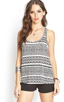 Forever 21 Crossback Tribal Print Top - Lyst