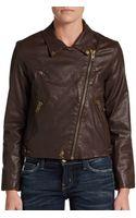 Current/Elliott The Soho Faux Leather Biker Jacket - Lyst