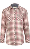 River Island Red Check Patch Pocket Long Sleeve Shirt - Lyst