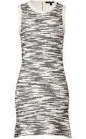 Derek Lam Cotton Blend Flared Dress in Blackwhite - Lyst