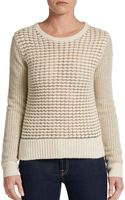 French Connection Gridlock Sparkle Sweater - Lyst