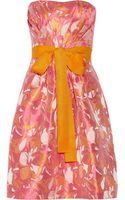 Badgley Mischka Floraljacquard Dress - Lyst