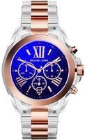 Michael Kors Chronograph Bradshaw Rose Goldtone Accent Clear Bracelet Watch 43mm - Lyst