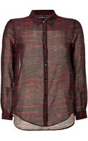 The Kooples Cotton-silk Plaid Shirt - Lyst