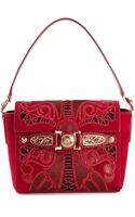 Versace Tattoo Buckled Shoulder Bag - Lyst