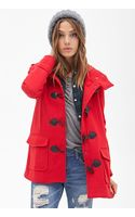 Forever 21 Hooded Toggle Coat - Lyst