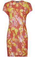 Ralph Lauren Blue Label Amelie Floral Tshirt Dress - Lyst
