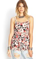 Forever 21 Floral Print Cami Top - Lyst