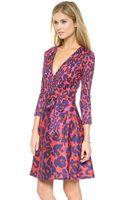 Diane Von Furstenberg Amelia Wrap Dress - Vintage Leopard Smal Red - Lyst