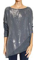 Manila Grace Sweater Long Sleeve Micropaillettes - Lyst