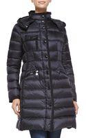 Moncler Hermine Darted-waist Puffer Coat - Lyst