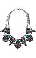 Deepa Gurnani Stone and Crystal Necklace Bluelavender - Lyst