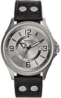 Fossil Mens Recruiter Gunmetal Tone Watch with Leather Strap - Lyst