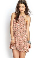 Forever 21 Abstract Pleated Cami Dress - Lyst