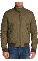 Burberry Brit Quilted Zip Bomber Jacket - Lyst