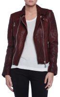 Doma Moto Leather Jacket - Lyst