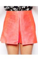 Asos Shorts with Pleat Front Detail in Fluro - Lyst