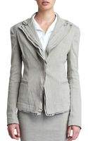 Donna Karan New York Layered Lapel Linen-blend Jacket - Lyst