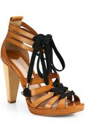 10 Crosby Derek Lam Jasmin Leather Laceup Sandals - Lyst