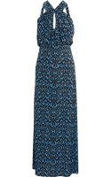 T-bags Stretch Satin Jersey Maxi Dress - Lyst