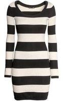 H&M Fineknit Dress - Lyst