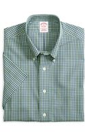 Brooks Brothers Noniron Regular Fit Check Shortsleeve Sport Shirt - Lyst