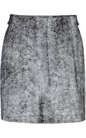 3.1 Phillip Lim Cracked Leather A-Line Skirt - Lyst