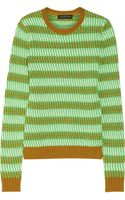 Jonathan Saunders Maryse Knitted Cotton Sweater - Lyst