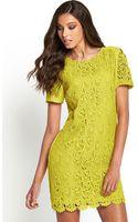 Oasis Lace Block Shift Dress - Lyst