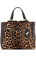 Diane Von Furstenberg 440 Runway Tote Bag Leopardmahogany - Lyst