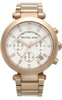 Michael Kors Womens Chronograph Parker Rose Goldtone Stainless Steel Bracelet 39mm - Lyst