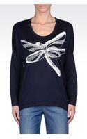 Armani Jeans Oversize Tshirt with Devoré Print - Lyst