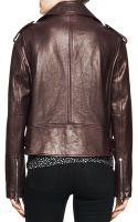 Proenza Schouler Shiny Leather Moto Jacket - Lyst