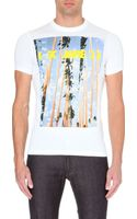DSquared2 Palm Tree Cotton-jersey T-shirt - Lyst