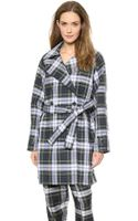 McQ by Alexander McQueen Plaid Trench Coat Rupert - Lyst