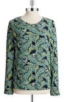Jones New York Patterned Long Sleeved Tee - Lyst