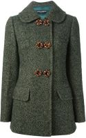 Dolce & Gabbana Double Breasted Tweed Coat - Lyst