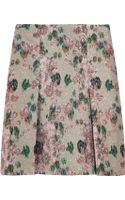 Erdem Calista Metallic Floraljacquard Mini Skirt - Lyst