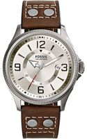 Fossil Mens Recruiter Stainless Steel and Leather Watch - Lyst