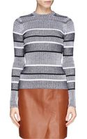 T By Alexander Wang Rib Knit Long Sleeve Sweater - Lyst
