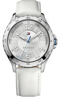 Tommy Hilfiger Womens White Leather Strap Watch 40mm - Lyst