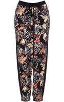 Topshop Feather Leaf Woven Joggers - Lyst