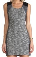 Lanston Tweed Body Con Dress in Charcoal - Lyst