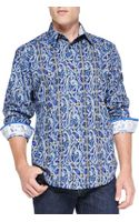 Robert Graham Hillstone Paisley and Plaid Sport Shirt - Lyst