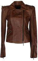 Plein Sud Jeanius Leather Outerwear - Lyst