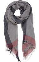 Colombo Contrast Border Scarf - Lyst