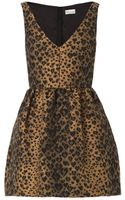 RED Valentino Leopardjacquard Fit and Flare Dress - Lyst